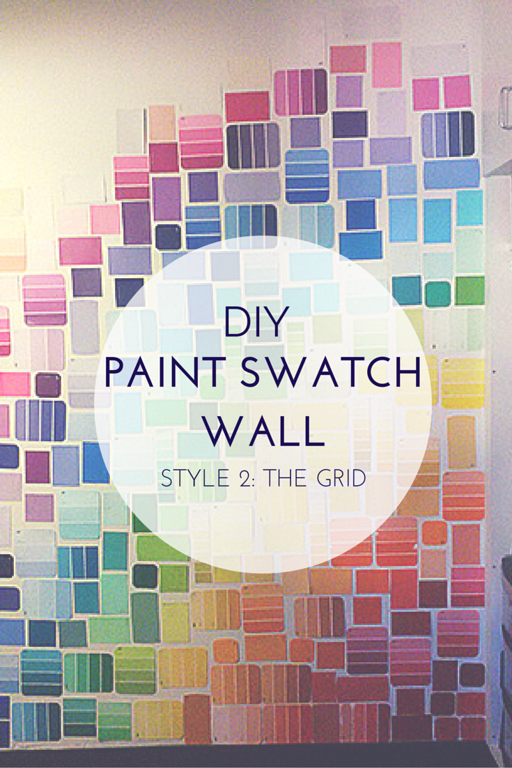 DIY Paint Swatch Wall: Grid. A simple creative do it yourself craft sure to bring color and personality into any room! Including those you can't paint on, like dorm rooms! #DIY #PaintSwatch #creative http://danidearest.wordpress.com/