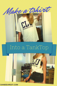 Do It Yourself: Make a T-shirt into a Tank-Top!
