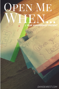 Open Me When... a creative gift to help heal and be there for someone through long distances. A collection of letters to help with every situation. #boyfriend #gift #diy #craft #relationship #ldr http://danidearest.wordpress.com/