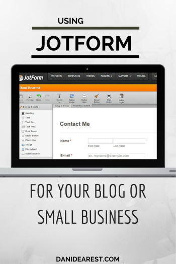 Using JotForm to help your blog or small business! #blog #contact https://danidearest.com/