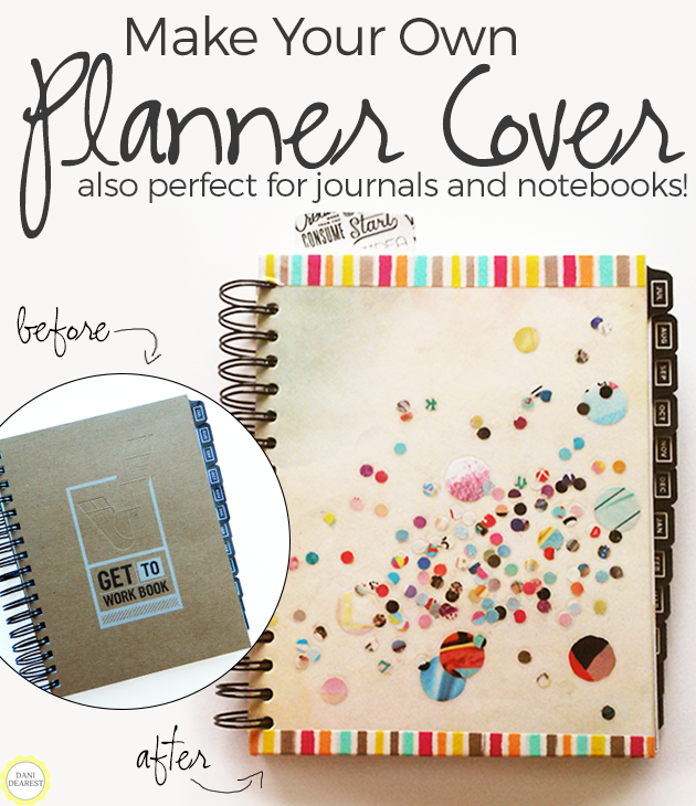 Make Your Own Cover: Perfect for notebooks, journals, planners and more! #DIY #Craft #Plan #Organize