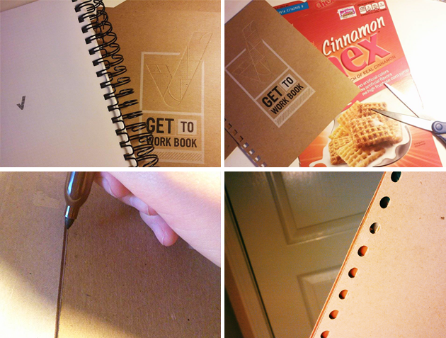 Reinforce your Get To Work Book Planner cover to make it stronger! - Make Your Own Notebook Cover