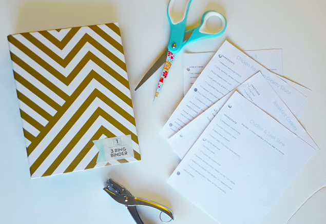 Quick, simple, and organized do it yourself recipe book!
