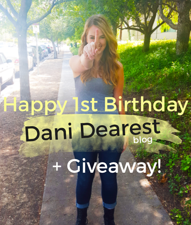 Happy 1st Birthday to Dani Dearest the blog! Click here to enter to win our anniversary giveaway for some great prizes! #College