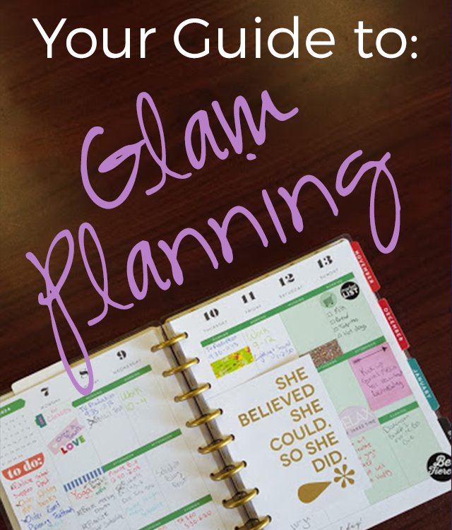 I tried Glam Planning.. and here's what happened! #TheHappyPlanner