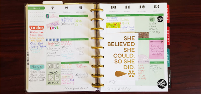 Glam Planning with The Happy Planner