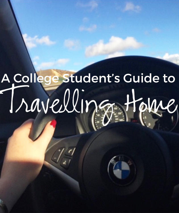 A college student's guide to travelling home, just in time for the holidays! All the essentials for driving or flying back to your hometown.