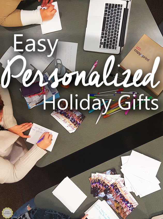 Easy, inexpensive, personalized holiday gifts. Brought to you by the Staples Copy and Print Center!