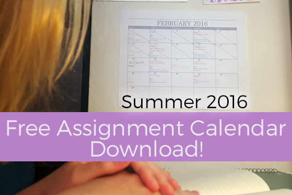 This free download printable is the perfect way to make sure you don't miss an assignment ever again! #MustHave #College