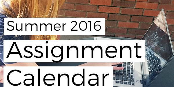 Free Download: Assignment Calendar – Summer Semester