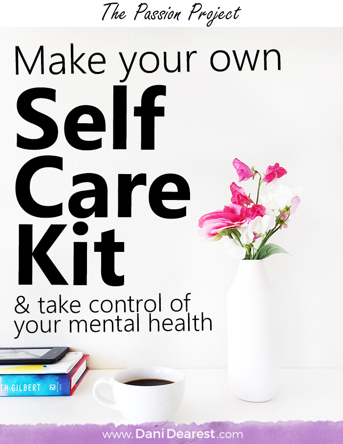 Self care is an incredibly important part of taking control of your mental health! Make your own self care kit with this DIY Self Care Kit guide.
