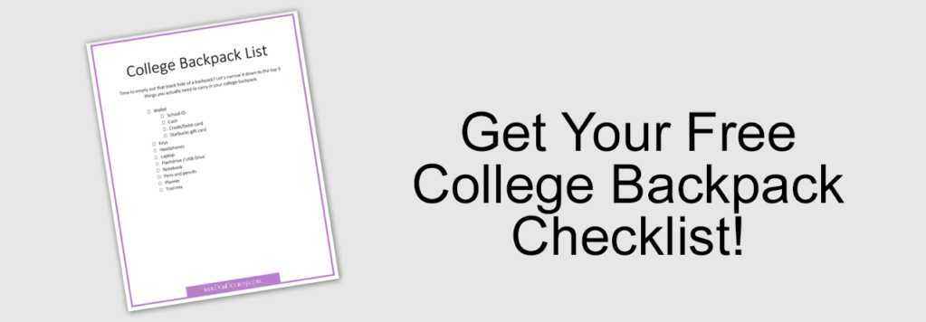 college backpack checklist