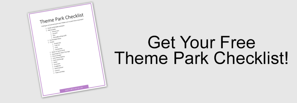 theme park checklist