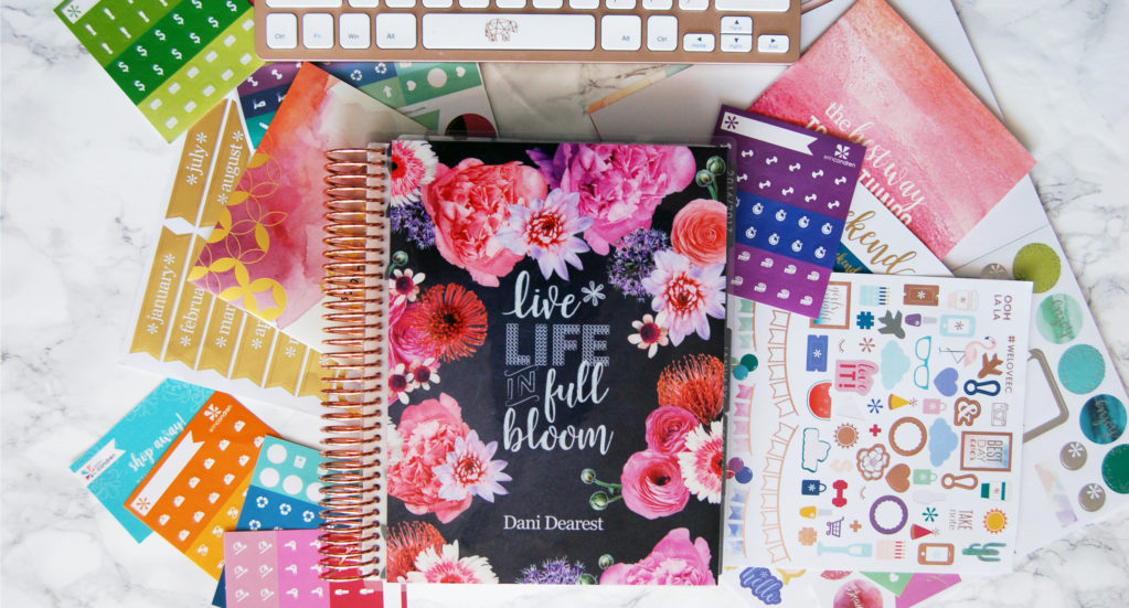 Planner front with stickers