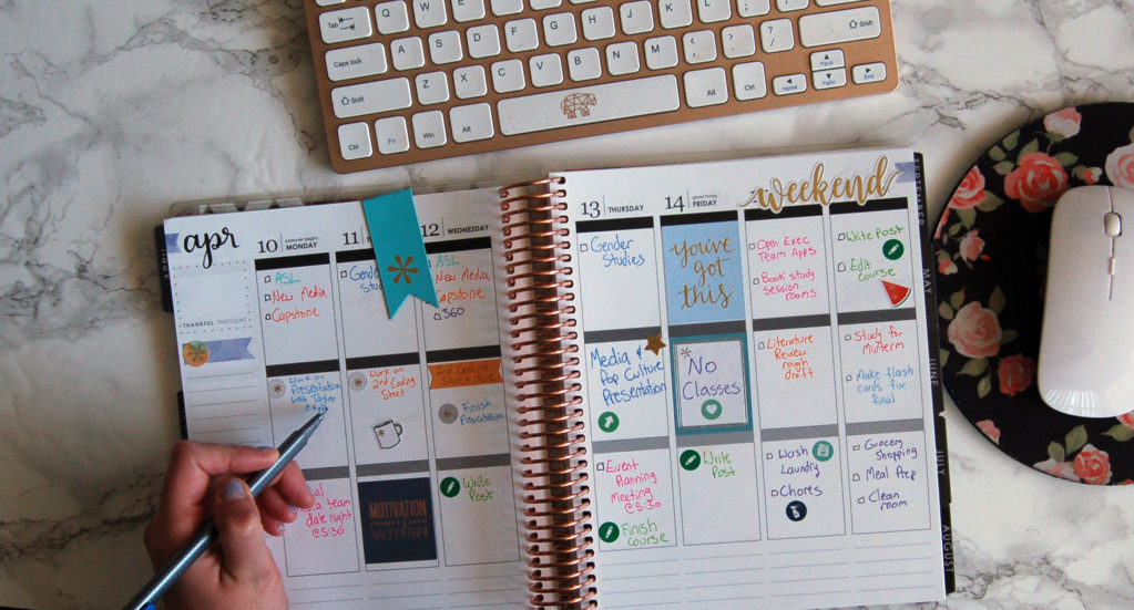 planner weekly writing