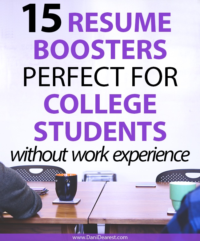 Don't get stuck in the loop of needing experience to get experience, boost your resume without any prior work experience with these creative resume boosters for college students!