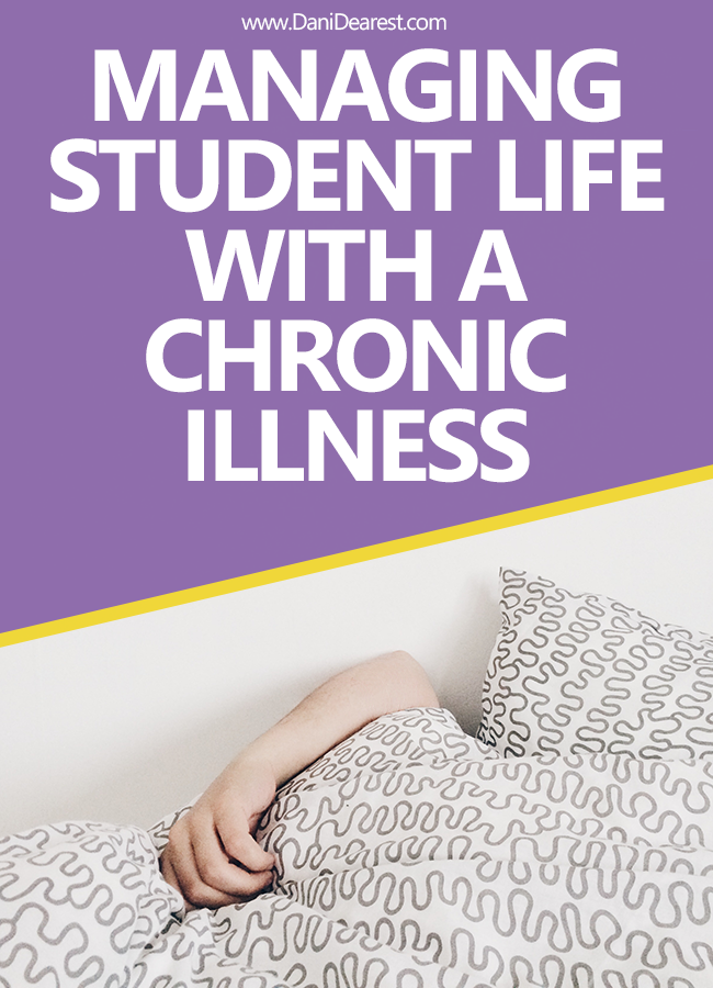 Tips for managing college student life when you have a chronic illness - from a student living with Hashimotos and Ehlhers Danlos Syndrome.