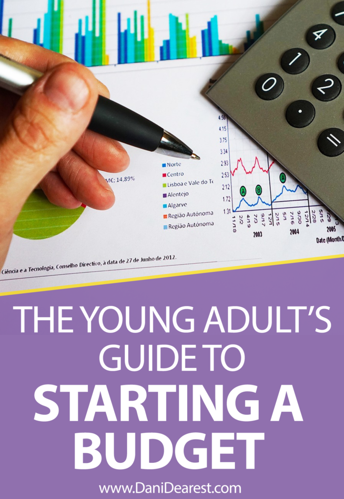 The young adult's guide to starting a budget - great for college students looking to begin budgeting or recent graduates wanting to get their finances together.
