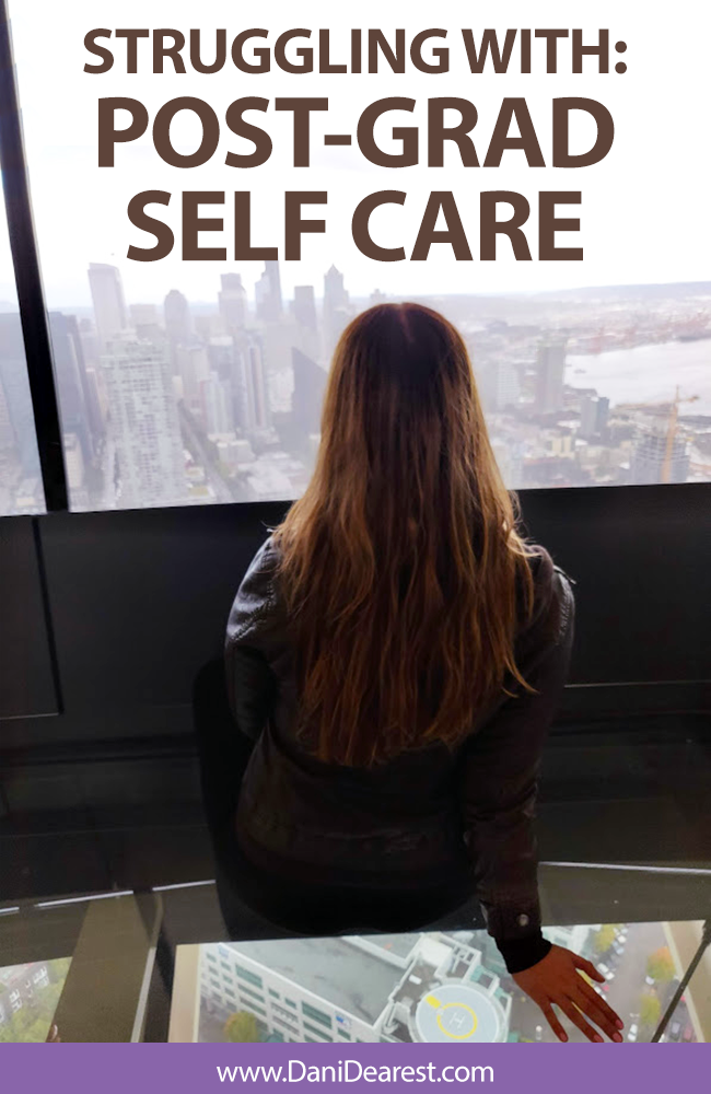After graduating college I am having a difficult time with learning how to take care of myself. Post-grad self care is different. Despite having a steady job and a great home life, I need to relearn how to relax.
