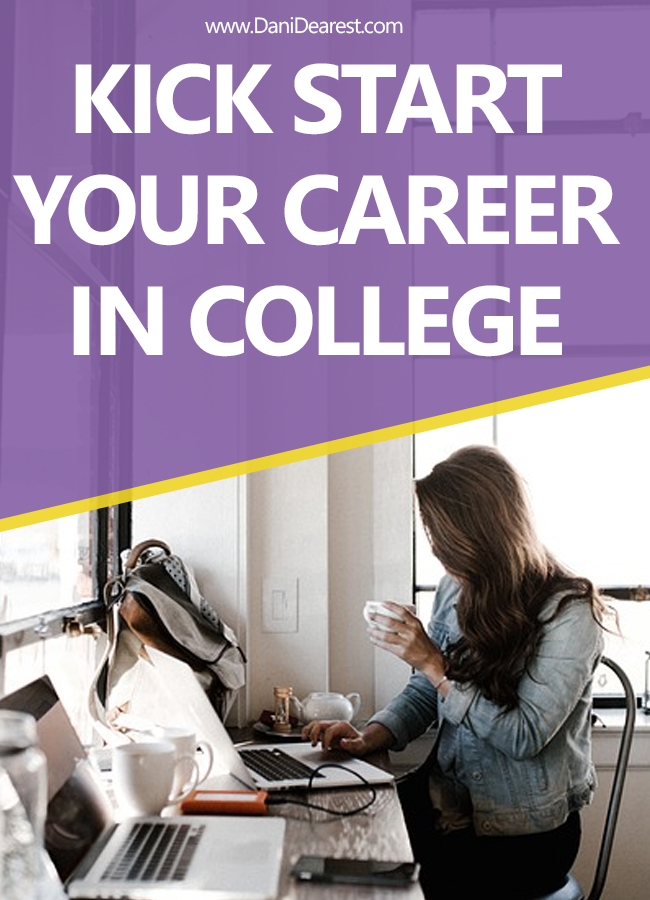 How to kick start your career in college - get ahead and get a job, intern, volunteer, get involved, and improve your chances of getting hired after graduation. #CollegeAdvice