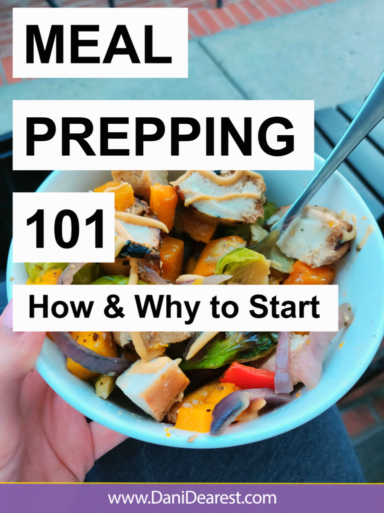 How and why to start meal prepping: The guide to help you save money, eat healthy, and stress less about what you're eating. Meal prepping 101. #MealPrep #GetHealthy #InexpensiveEating