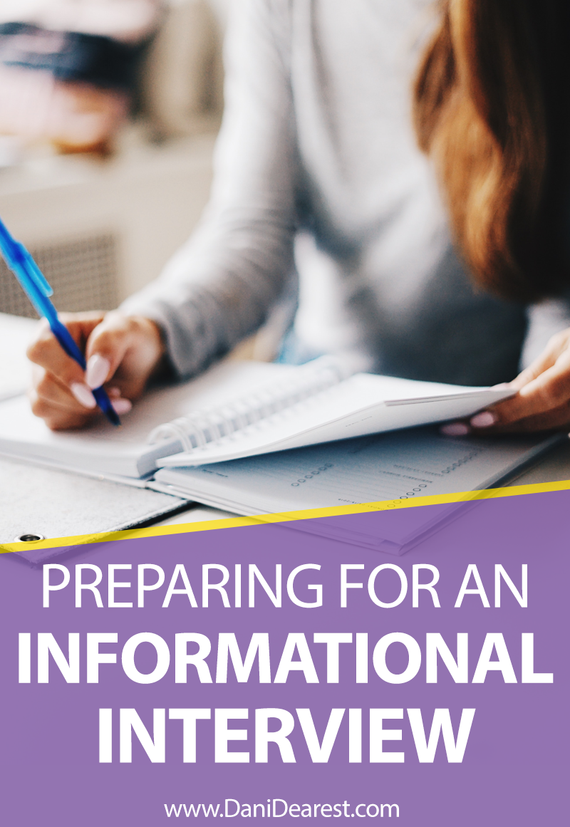 Preparing for an informational interview is incredibly important - set yourself up for success with this easy in-depth guide! #careeradvice